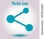 share  sign icon. flat design...