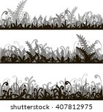 abstract vector silhouettes...