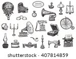 vintage objects vector graphic... | Shutterstock .eps vector #407814859
