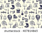 vintage objects vector graphic... | Shutterstock .eps vector #407814865
