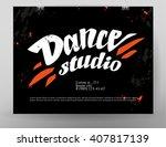 vector dance studio logo. dance ... | Shutterstock .eps vector #407817139