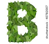 letter b with leafs in vector...   Shutterstock .eps vector #40782007