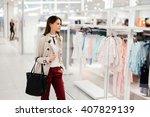 beautiful businesswoman buying