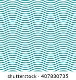fresh cute sea wave curve. blue ...