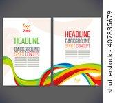 vector template design brochure ... | Shutterstock .eps vector #407835679