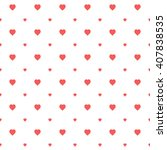 red seamless heart pattern | Shutterstock .eps vector #407838535