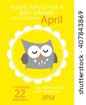 baby shower invitation greeting ... | Shutterstock .eps vector #407843869