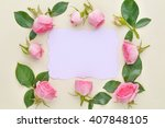 Roses On Paper Card
