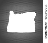 map of oregon | Shutterstock .eps vector #407849911