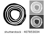 line circle vector hand drawn... | Shutterstock .eps vector #407853034