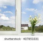 bouquet of wildflowers on a...   Shutterstock . vector #407853331