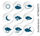 vector set of white rounded... | Shutterstock .eps vector #407860375