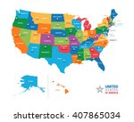 united states of america usa... | Shutterstock .eps vector #407865034