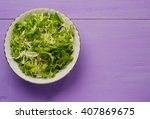 cabbage salad in a plate on a...