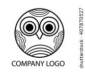 little owl pretty logo round... | Shutterstock .eps vector #407870527