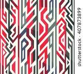 red tribal seamless pattern. | Shutterstock .eps vector #407873899