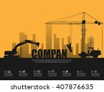 company concept with... | Shutterstock .eps vector #407876635