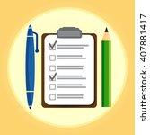 test vector icon. school exam  | Shutterstock .eps vector #407881417
