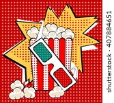 popcorn sweet and savory corn... | Shutterstock .eps vector #407884651