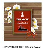 the first  may congratulation... | Shutterstock .eps vector #407887129