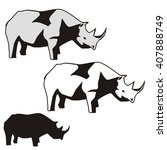 rhinoceros icon. rhinoceros... | Shutterstock .eps vector #407888749