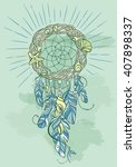 vector dream catcher amulet of... | Shutterstock .eps vector #407898337