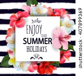 Summer Holidays Background Wit...