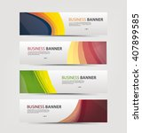 set of banner templates. | Shutterstock .eps vector #407899585