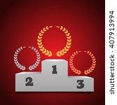winners podium  background  eps ... | Shutterstock .eps vector #407913994