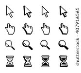 vector set mouse cursors. | Shutterstock .eps vector #407916565