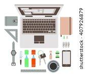 set of flat modern design...   Shutterstock . vector #407926879