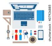 set of flat modern design...   Shutterstock . vector #407926885