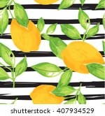 lemon pattern. seamless...   Shutterstock .eps vector #407934529