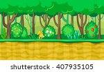 seamless horizontal summer... | Shutterstock .eps vector #407935105