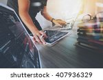 website designer working... | Shutterstock . vector #407936329