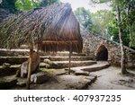 temple mayan pyramid in coba ... | Shutterstock . vector #407937235