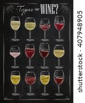 poster main types of wine... | Shutterstock . vector #407948905