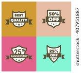 set of shield different design. ... | Shutterstock .eps vector #407951887