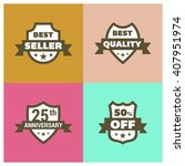 set of shield different design. ... | Shutterstock .eps vector #407951974