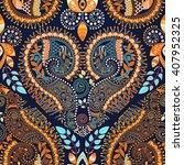 vector oriental seamless... | Shutterstock .eps vector #407952325