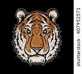 tiger head. tiger head logo.... | Shutterstock .eps vector #407952571