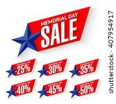memorial day sale discount... | Shutterstock .eps vector #407954917