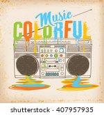 retro stereo.   Shutterstock .eps vector #407957935