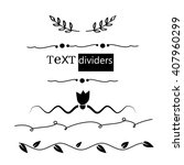 hand drawn text dividers... | Shutterstock .eps vector #407960299