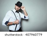 Handsome Young Man With Hat An...