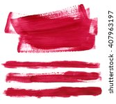 set paint stains. acrylic paint ... | Shutterstock . vector #407963197