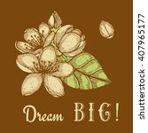 dream big poster with engraved... | Shutterstock .eps vector #407965177