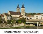 collegiate church of notre dame ... | Shutterstock . vector #407966884