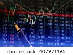 Graph Of Stock Market Data And...