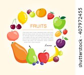 organic and fresh fruits... | Shutterstock .eps vector #407972455